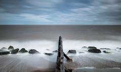Smoke On The Water (John Pettigrew) Tags: tamron d750 nikon groynes long suffolk sea defences beach aldeburgh water waves exposure sky rocks movement seascape 2470mm coast clouds seaside