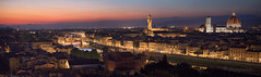 in the afterglow (cherryspicks (on/off)) Tags: florence italy panorama skyline tower church roof city urban sunset afterglow cityscape architecture buildings river arno water reflection night