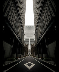 Direction (ScottSimPhotography) Tags: tokyo street narrow road moody drama japan japanese asia buildings city cityscape downtown ginza dark contrast scifi bladerunner sony sonya6000