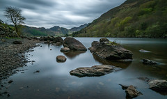 Time warp... (Lee~Harris) Tags: lake landscape exposure longexposure nikon d300 rugged tranquil serene scene love beauty rocks foreground tree clouds mountain hill water outdoor wales cymru beautifulexpression spring sigma 1020mm 10stop nd