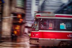 Red Rocket street corner (Greg David) Tags: redrocket toronto ontario canada downtown downtowntoronto streetcar ttc ttcstreetcar yongeanddundas yongest yongeanddundassq yongedundassquare street corner
