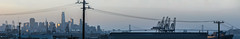 hudson avenue skyline (pbo31) Tags: bayarea california nikon d810 color may 2017 spring boury pbo31 northerncalifornia sanfrancisco city urban hunterspoint shipyards industrial closed redevelopment naval sunset panoramic large stitched panorama skyline baybridge bridge salesforce construction silhouette bay port cranes