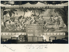 Frank Bowers mural? (jericl cat) Tags: vintage photo photography frank bowers mural painting hawaiian tropical tiki interior station compliment nco club 1 michael hawaiians nude zamboanga leilani bar lounge frankbowers painter artist