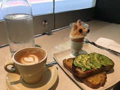 Avo toast, flat white and soldiers (profernity) Tags: australia sydney
