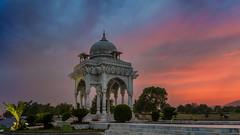 Colors of Sunset (hamzaqayyum) Tags: sunset architecture park pakistan orange pastel xt20 fuji