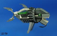 Leo Fish (01) (F@bz) Tags: darius mecha fish lego moc animal shootemup stg shootinggame