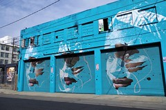 Faces - Arts District Los Angeles - In Explore (Joey Z1) Tags: faces bluebuilding triptych triptychoffaces urbanart streetart urbanscene laasseenbyjoeyz1 streetartonrollupdoors paintedfaces laart urbanartlosangeles downtownlosangeles dtla colorfulbuilding polychromatic pentaxks1 bylaphotolaureatejoeyzanotti inexplore