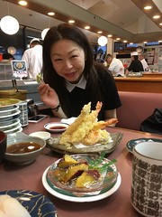 By the rotation sushi shop (hoshinosuna bega) Tags: by rotation sushi shop woman