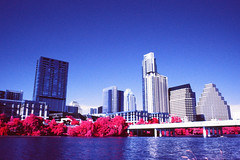 Downtown Infrared (infobong) Tags: austin infrared infraredfilm colorinfrared colorinfraredfilm austinskyline