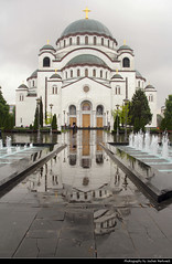 Church of Saint Sava Reflection, Belgrade, Serbia (JH_1982) Tags: church saint sava st храм светог саве hram svetog save dom templo san église saintsava tempio heiligen 圣萨瓦教堂 聖サワ大聖堂 святого саввы كاتدرائية القديس سابا serbian orthodox christianity christian religion religious spiritual landmark building sightseeing rain raining puddle pfütze fountains reflection reflections reflektionen reflektion belgrade београд beograd belgrad belgrado 贝尔格莱德 ベオグラード 베오그라드 белград بلغراد serbia србија srbija serbien serbie 塞尔维亚 セルビア 세르비아 сербия صربيا