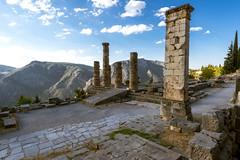 """Delphi, The Sacred Way – XVI – Apollo's Temple (egisto.sani) Tags: delfi sito """"late classical period"""" tardo classico periodo"""" xenodoros agathon """"apollo's temple"""" """"temple apollo"""" """"pillar prusias"""" prusias """"tempio di phocis focide delphi """"archaeological museum"""" """"museo archeologico"""""""