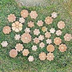 Flores de madeira. #flor #flores #artesanato #artesanal #artesanatomineiro #paraoartesão #aplique #apliquedemadeira (fabriciabarcelos) Tags: artesanatomineiro flor aplique flores paraoartesão artesanato apliquedemadeira artesanal
