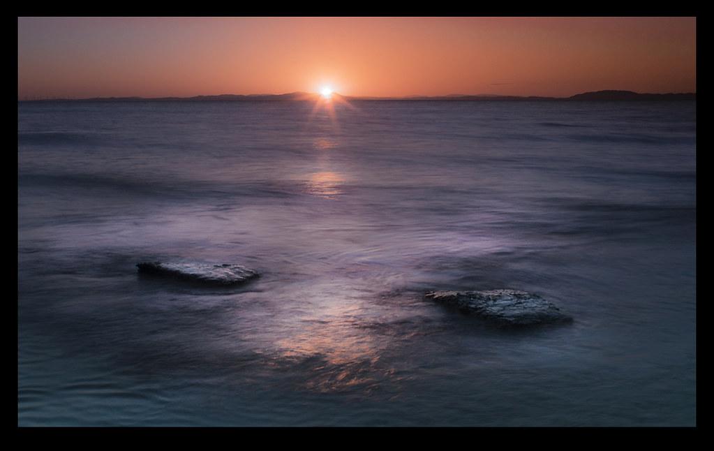 Sunset at Maryport, Cumbria, UK