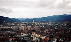 TRONDHEIM (Nordic Tomato) Tags: trondheim trondhjem norway norge europe city urban mountains snow spring retro style canon cityscape landscape