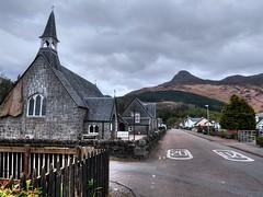 Glencoe Village 2 (Phelan (Shutter Clickin) Goodman) Tags: glencoe village church mountain pap sky cloudy panasonic gx80