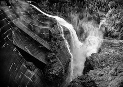 Water slide (D. Inscho) Tags: washington diablodam seattlecitylight hydroelectric skagitriver pacificnorthwest