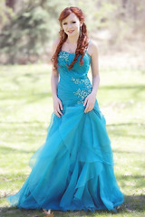 :: prom :: (mjcollins photography) Tags: prom young girl teen teenager highschool junior spring aqua teal dress red hair outside outdoors