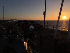 Sun Setting on Forth (Broliant) Tags: bmw r1200gsa motorrad sunset forth bridges