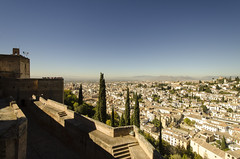 Granada Viewed from Alhambra (rschnaible) Tags: alhambra granada spain espana europe building architecture old history historic alcazaba fort fortress wall cityscape view