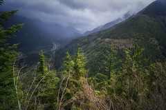 East Bound and Down (writing with light 2422 (Not Pro)) Tags: eastboundanddown landscape washingtonstate i90 freeway snoqualmiepass hallpoint hallpointtrail snoqualmieriver weeksfalls fog forest trees sky sonya77 richborder clouds