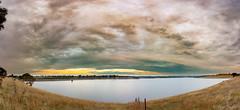 Coliban Reservoir--2 (Shaun (spt750)) Tags: shaunthomson landscape reservoir spillway sunset water