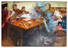 The Pub Session (Billb62) Tags: dunkeld taybank mural art folk music scotland perthshire