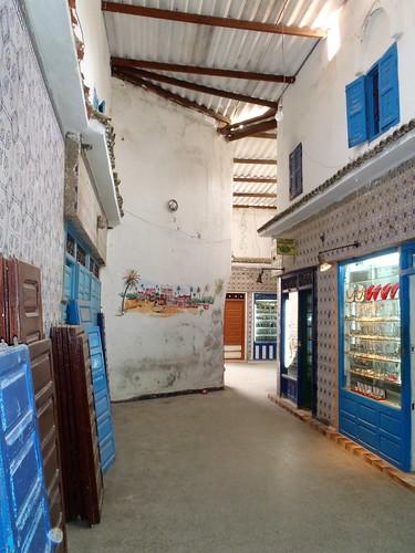 A narrow passage in the medina of Essaouira