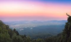 Evening moonlight (Dejan Hudoletnjak) Tags: landscape sunset nature slovenia moon moonlight evening