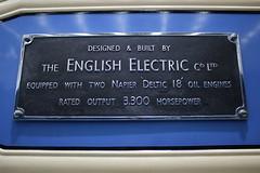 DELTIC works plate (372Paul) Tags: nrm shildon nationalrailwaymuseum steam diesel electric e5001 class71 deltic lner emu 2hap black5 5000 sanspareil apt advancedpassengertrain