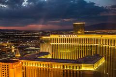 Las Vegas Sunsets (Thomas Hawk) Tags: america clarkcounty ferriswheel highroller lasvegas lasvegasstrip nevada sincity usa unitedstates unitedstatesofamerica vegas venetian venetianhotel fav10 fav25 fav50