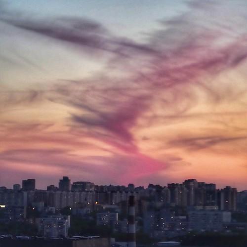 #москва #sky #sunset