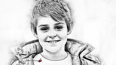 Photo became drawing 2 (ildefonsosegura) Tags: photoshop tutorial adobe aspectodibujo drawing transformaciónadibujo paint lápiz pencil