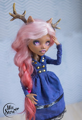 Clawdeen OOAK by WillStore (willka_ann) Tags: clawdeen clawdeenwolf twins ooak doll dolls monsterhigh mh monster mattel makeup willstore wig alpaca alpacawig repaint faceup custom c