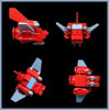 The Bloated Boar (Karf Oohlu) Tags: lego moc microscale microspacetopia iceworldship spaceship scifi