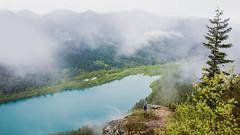 Rattlesnake Ridge: III (basheertome) Tags: fog forest lake mountain northwest pacific rain rattlesnake ridge seattle summer