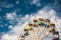 Ferris Wheel (Jim Makos) Tags: ferriswheel colorful greece themepark amusementpark outdoor thessaloniki sky park amusement fun joy wheel makedoniathraki gr macedoniagreece makedonia timeless macedonian macédoine mazedonien μακεδονια