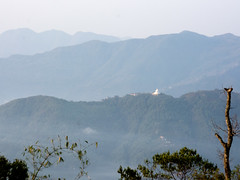 World Peace Pagoda seen from Sarangkot (suebunnybungard) Tags: worldpeacepagoda nepal pokhara sarangkot