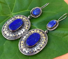 Big Afghan Kuchi Lapis Earrings Carved Ethnic Jewelry Gypsy Bohemian Boho Tribal (CraftEast) Tags: vintage jewelry jewellery afghan kuchi tribal ethnic gothic antique turkmen bohemian gypsy festival stone etsy boho hippie hippy handmade tuareg belly dance earrings lapis