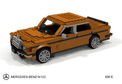 Mercedes-Benz W123 690E Saloon (lego911) Tags: w123 123 mercedes mercedesbenx benz 690 690e sedan saloon 1976 1970s classic modified auto car moc model miniland lego lego911 ldd render cad povray german germany lugnuts challege 114 automotiveculturemashup automotive culture mashup foitsop