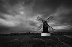 Pitstone Windmill (Andy Hemper) Tags: pitstone windmill blackandwhite blackwhite monochrome cloudy landscape field sky clouds storm weather country countryside uk england outdoors outside moody foreboding dark