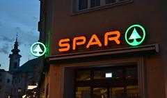 SPAR Salzburg (afagen) Tags: salzburg austria night sign spar grocerystore supermarket