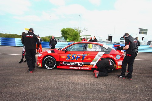 Ant Whorton-Eales on the grid at the Thruxton BTCC weekend, May 2017