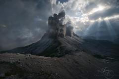 Towers of Heaven (enricofossati) Tags: enricofossati epic dolomites dramatic sunset sunburst tre cime workshop