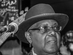 "Kenny ""Blues Boss"" Wayne (MarcCooper_1950) Tags: blues music musician livemusic monochrome portrait fujifilm xt10 tarzana cadillacsackbluesshow mauisugarmillsaloon kennywayne thebluesboss piano pianist keyboard"