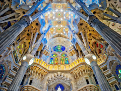 Looking Up at Sagrada Familia (Stuck in Customs) Tags: 80stays treyratcliff hdr aurorahdr rcmemories airnzphotocontest interflixcontest flixbus barcelona sagrada familia spain x1d hasselblad