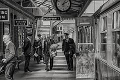 Toddington Station (Evoljo) Tags: railway gloucestershire warwickshire trains steam nikon track toddington station people blackwhite d500