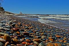 Whitefish Point Beach (smiles7) Tags: lakesuperior whitefishpoint rocks colors spring