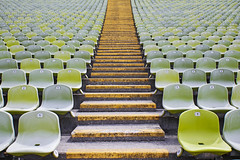 Free Choice (CoolMcFlash) Tags: munich germany olympiastadion seats empty geometry stairs stadion chair abstract pattern lines canon eos 60d row repetition münchen deutschland sitze sessel leer nobody niemand geometrie stufen architecture architektur reihe hintereinander fotografie photography symmetry symmetrie