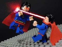 Super Boy Prime vs Superman (MrKjito) Tags: lego minifig super hero dc comic comics man boy prime earth villain custom kal el perfect infiinte crisis fight earth1 earthprime