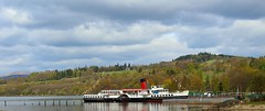 Maid of the Loch on Loch Lomond (Eddie Crutchley) Tags: europe uk scotland balloch loch cloudysky outdoor lochlomond steamboat paddleboat lake simplysuperb greatphotographers